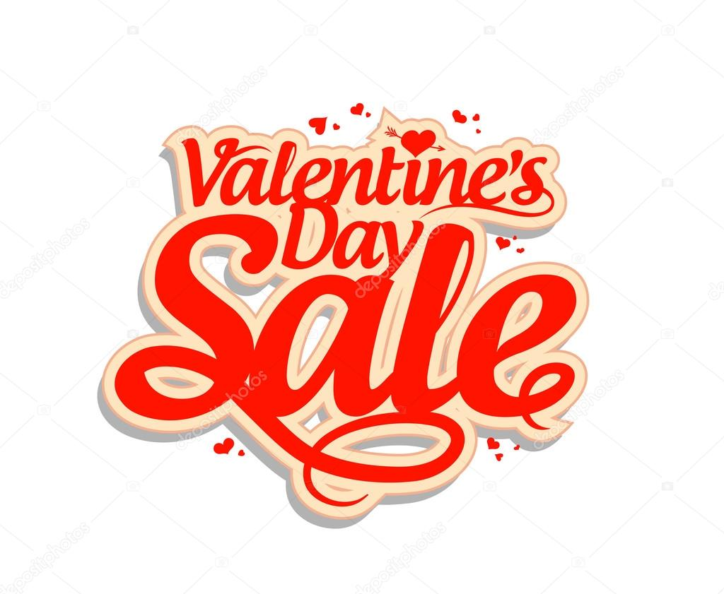 Valentine Day Sale Design Template. U2014 Vector By Slena