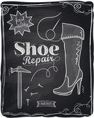Photo Shoe repair chalkboard.