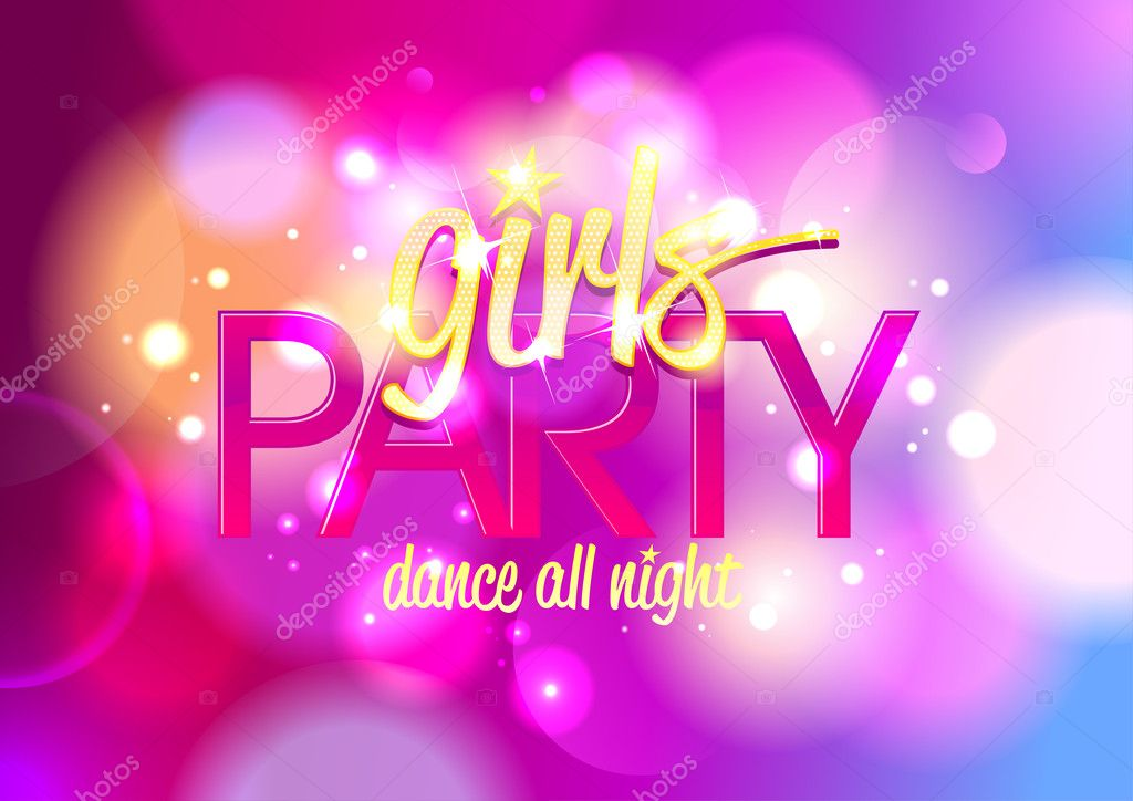 Girls party invitation or banner.