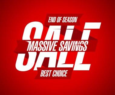 Massive savings sale design.