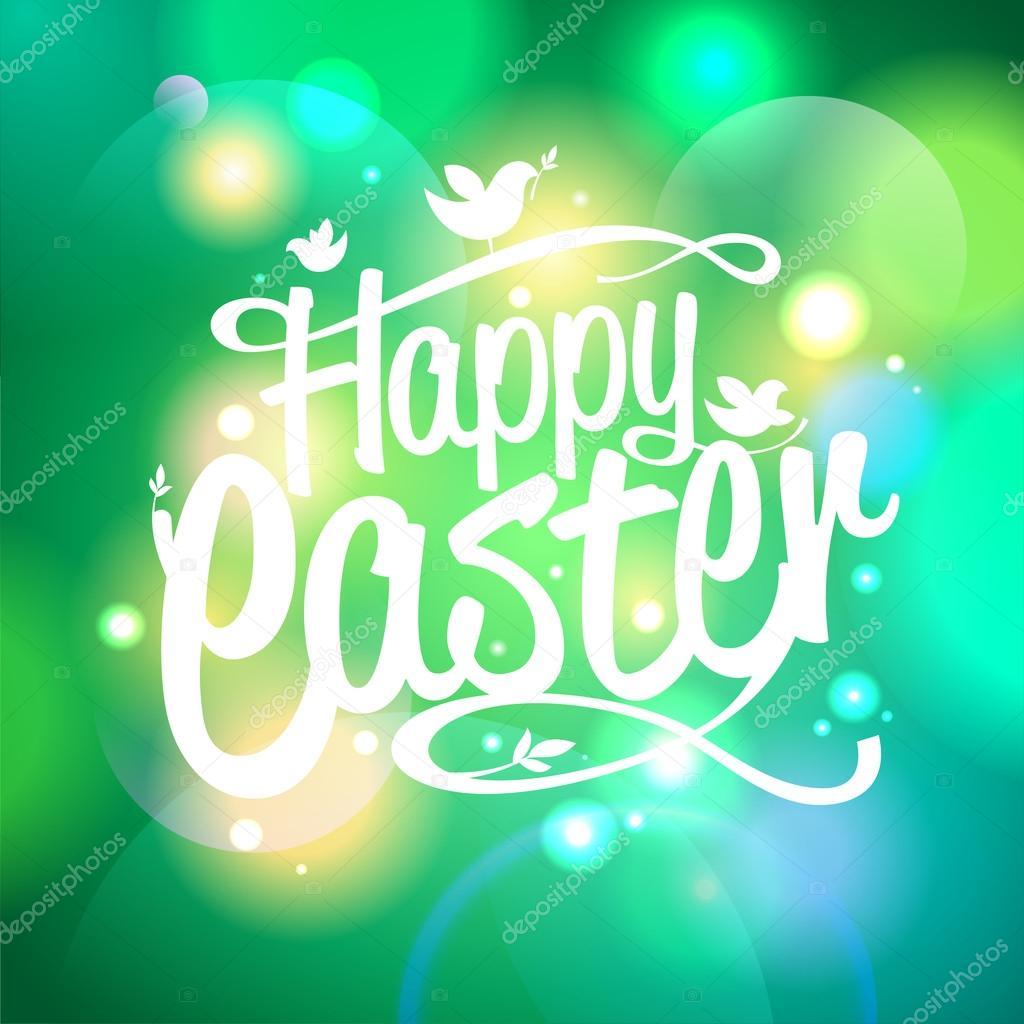 Easter design on a bokeh lights background.