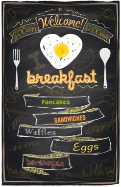 Chalk breakfast menu.