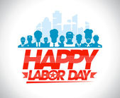 Fotografie Happy labor day design with workers.