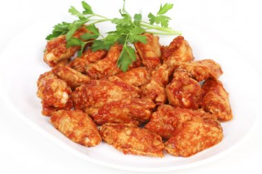 Chicken wings with spicy barbecue sauce