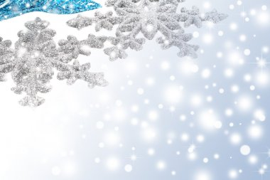 Silver snowflakes background