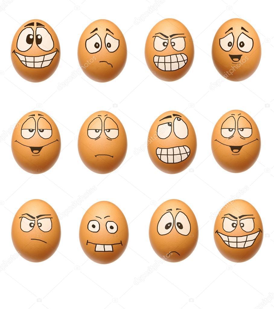 grappige eieren collectie stockfoto kasza 13891576. Black Bedroom Furniture Sets. Home Design Ideas