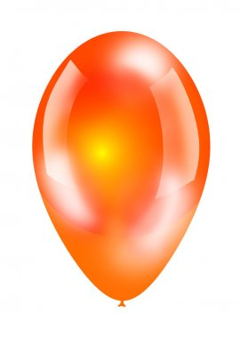 Big shiny balloon isolated on white stock vector