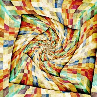 Multicolor Sunbeams grunge background. Retro poster stock vector
