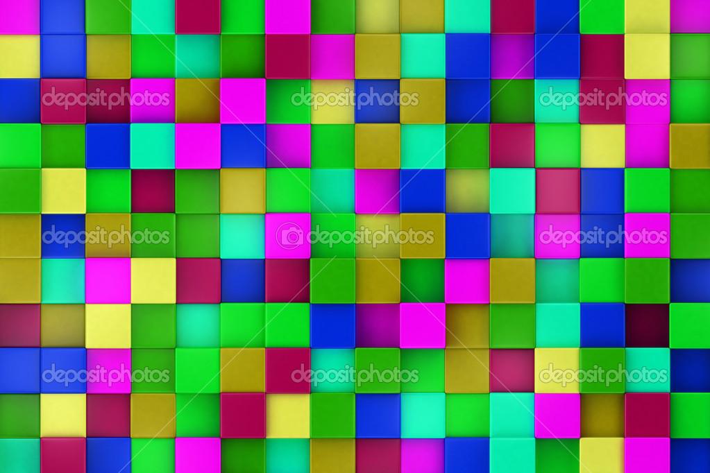 Fondo 3d cubos de colores colorido mosaico foto de stock kasza 46489027 - Mosaico de colores ...