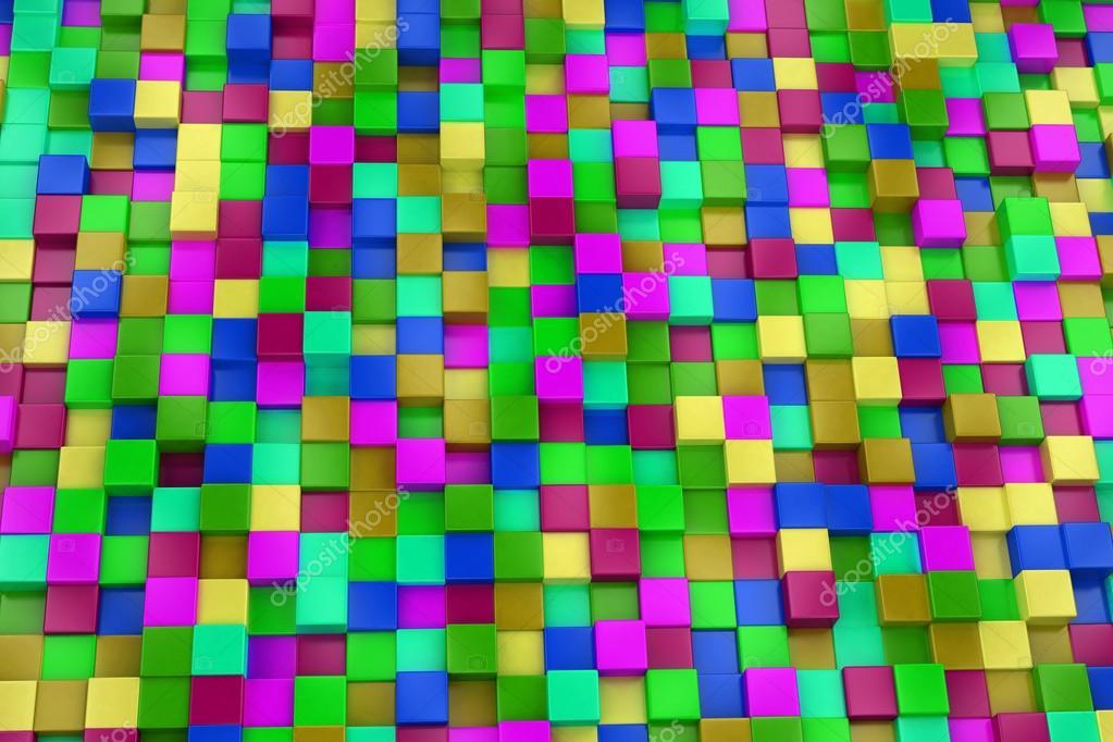 Fondo cuadros 3d colores fondo 3d cubos de colores colorido mosaico foto de stock kasza - Mosaico de colores ...