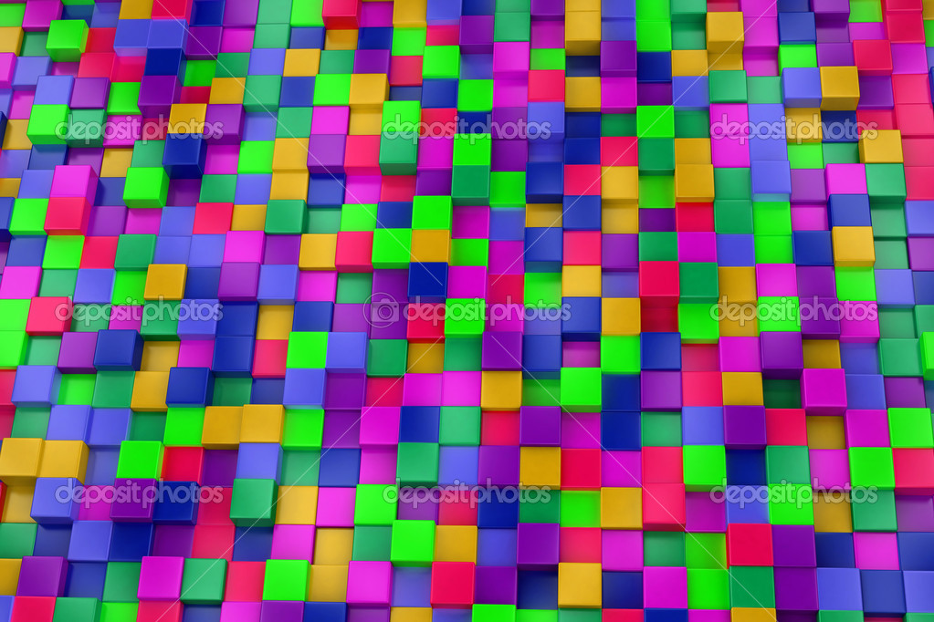 Im genes cubos de colores fondo 3d cubos de colores colorido mosaico foto de stock kasza - Mosaico de colores ...