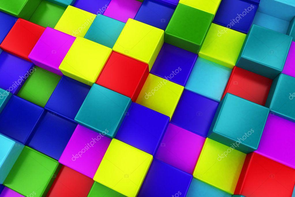 Fondo 3d cubos de colores colorido mosaico foto de stock kasza 46489089 - Mosaico de colores ...