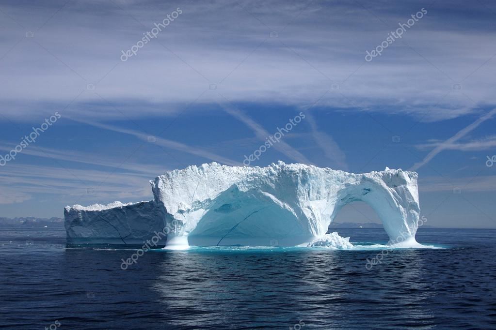 Iceberg off the coast of Greenland, Atlantic Ocean.