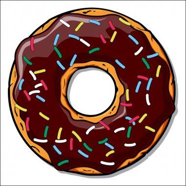 Cartoon donut illustration.