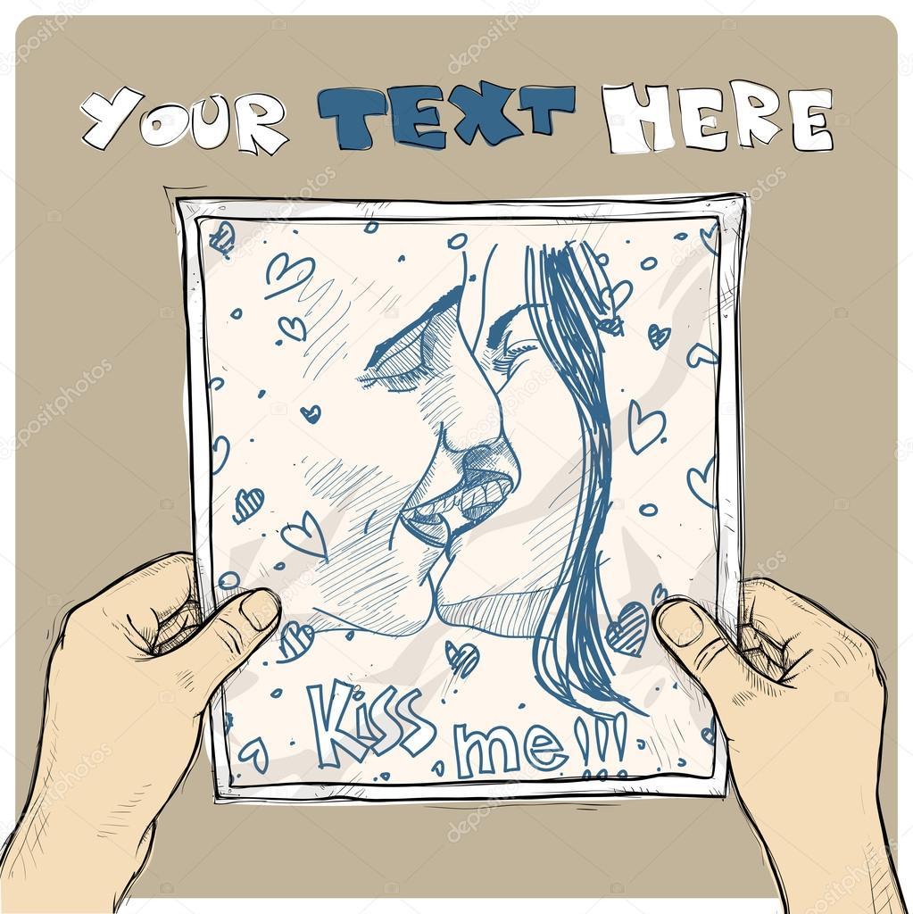 Zeichnung von einem Blatt Papier mit Abbildung für Jungen und ...