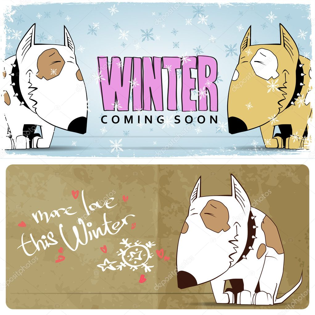Image of: Humor Winter Vector Card With Funny Cartoon Dog And Text Stock Vector Asian Food Near Me Winter Vector Card With Funny Cartoon Dog And Text Stock Vector