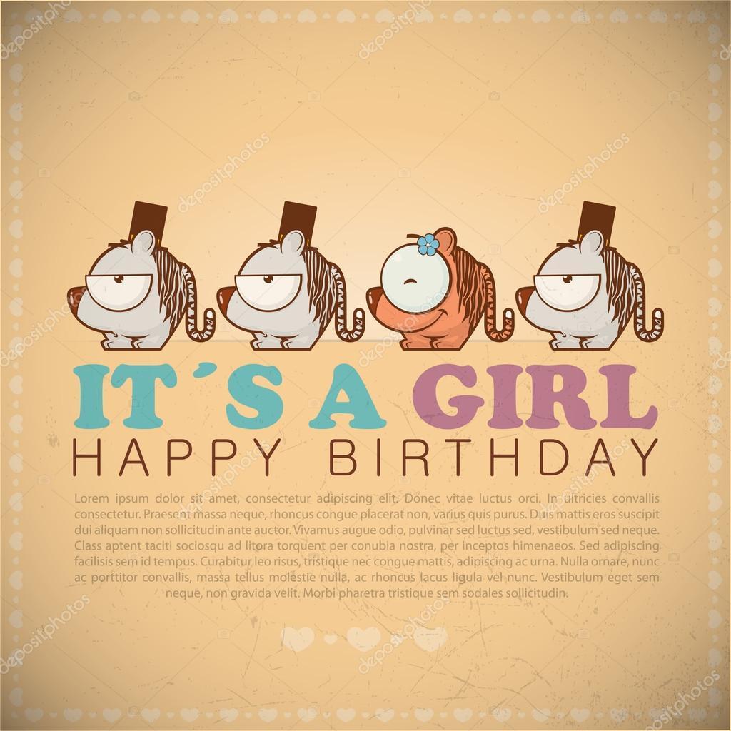 Auguri Divertenti Di Buon Compleanno Con Tigri Simpatico Cartone