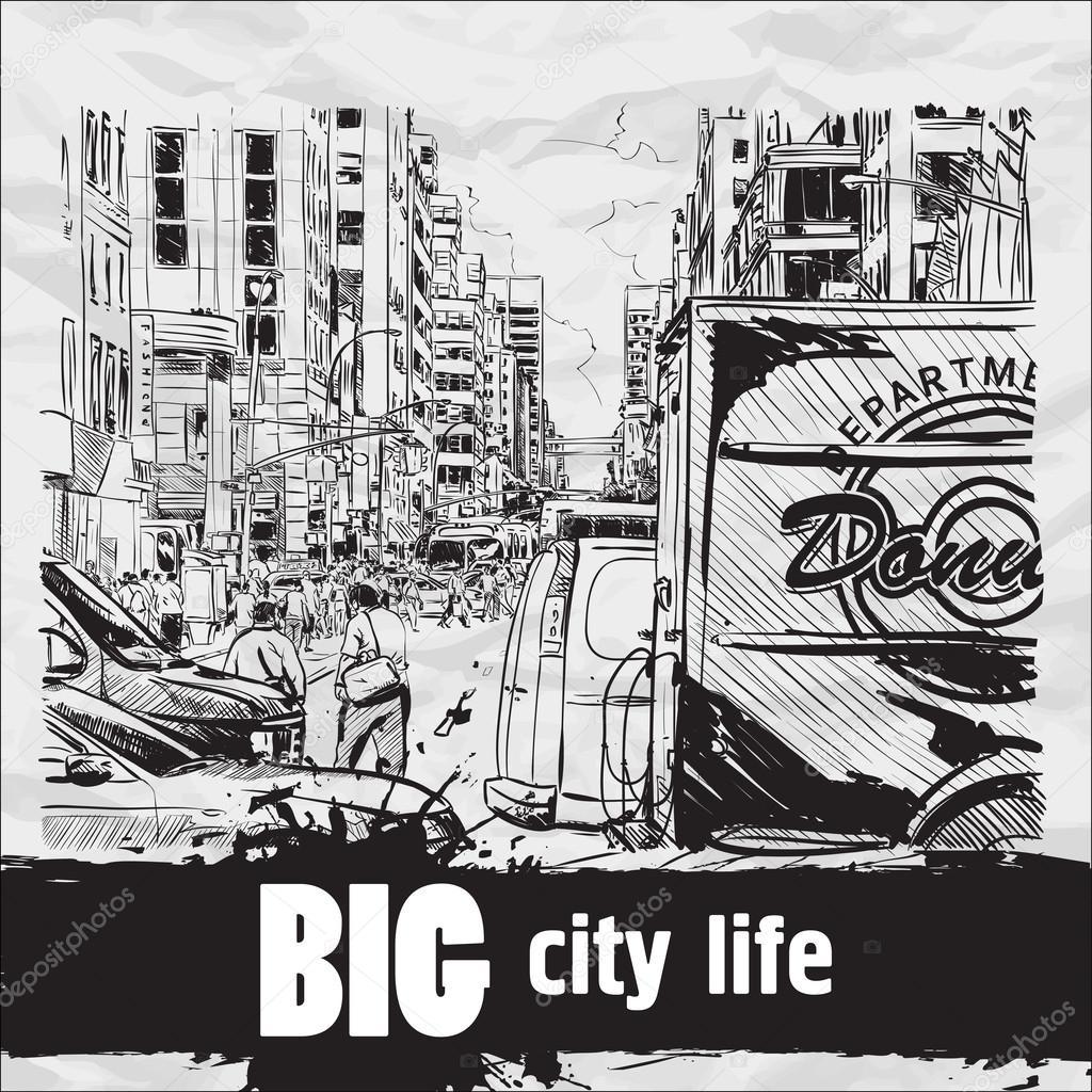 Mega city street