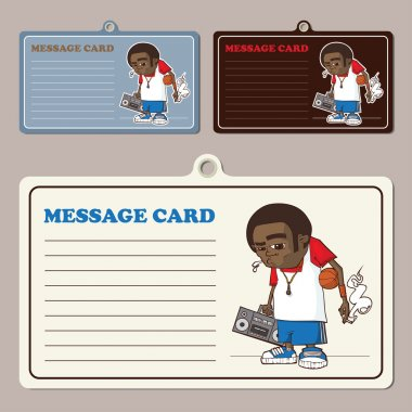 Set of vector message cards