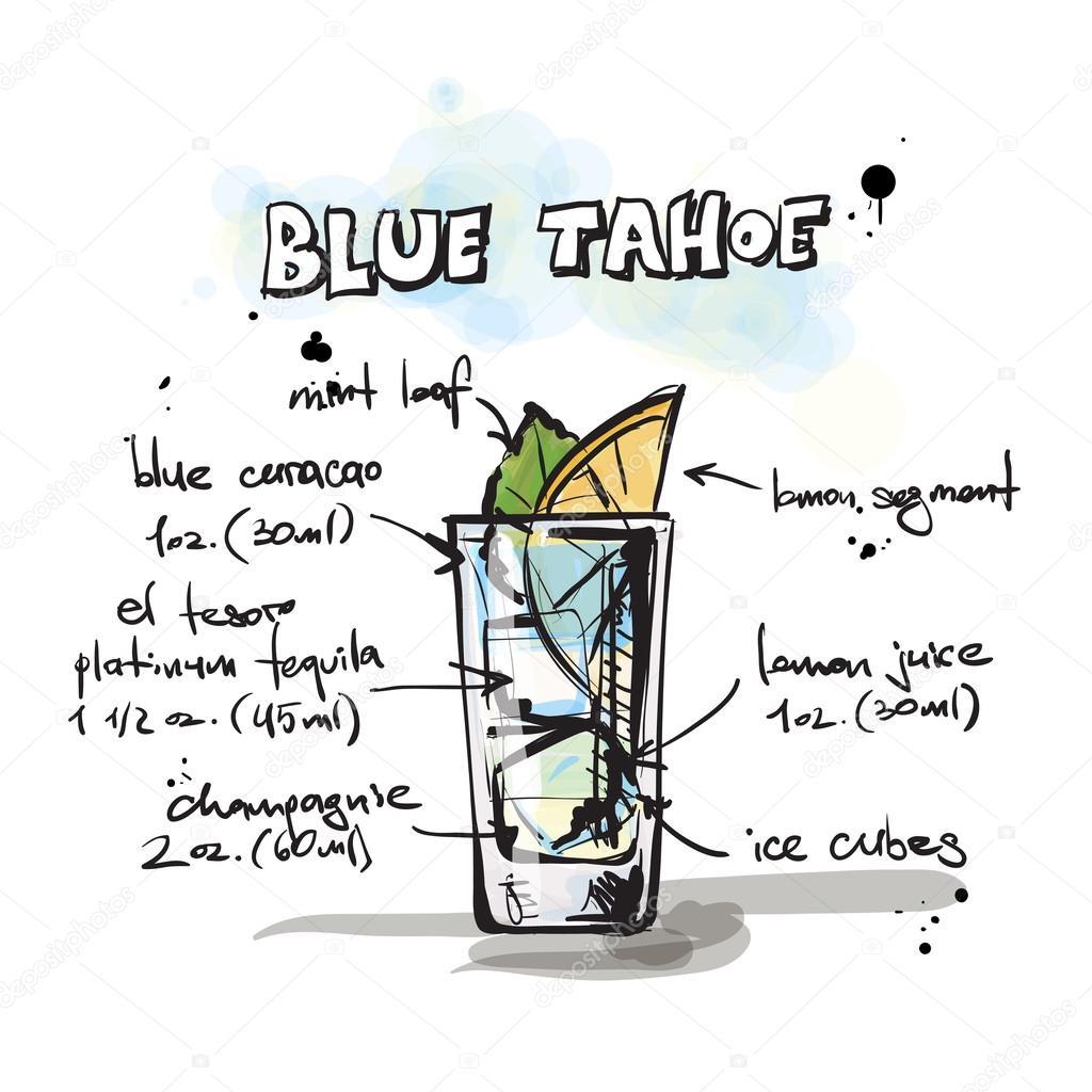 Cocktail Blue Tahoe