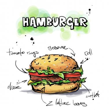 Cool tasty hamburger