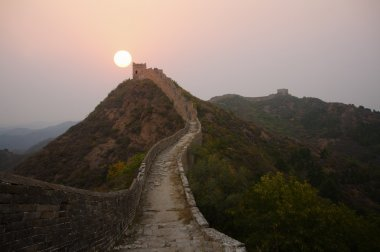 The Great Wall of China Morning Sunrise