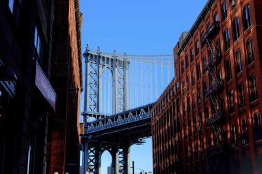 Manhattan Bridge seen from Brooklyn, New York
