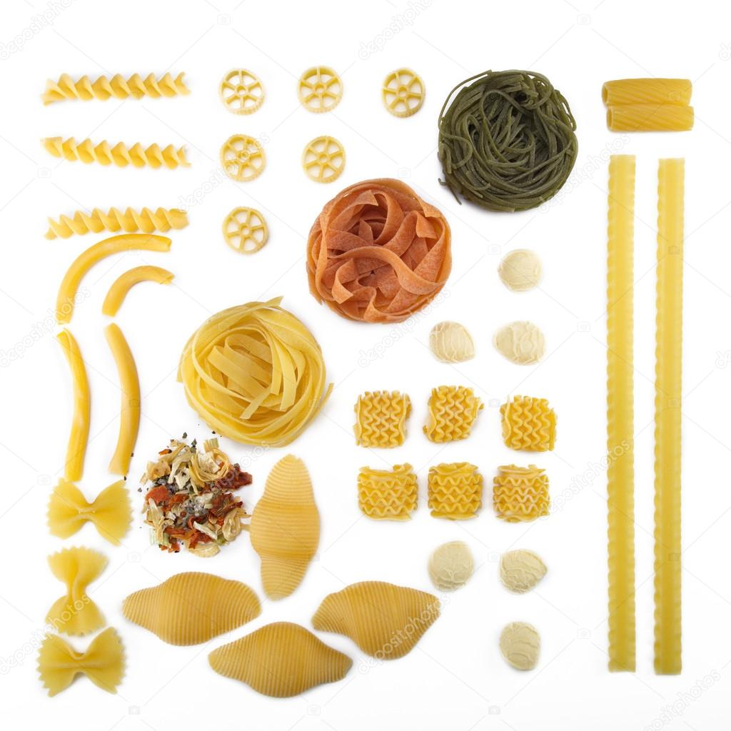 Diversi tipi di pasta foto stock nick freund 28495467 - Diversi tipi di pasta ...