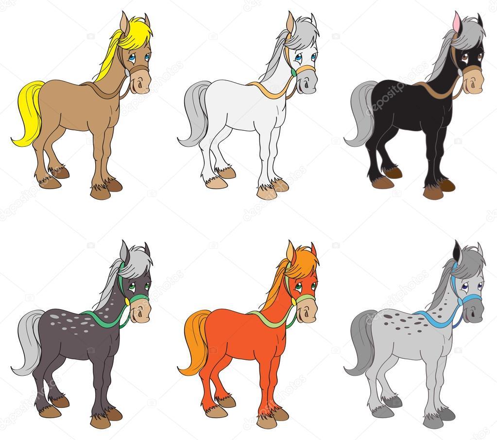 conjunto de caballos — Vector de stock © jkbunny #13914612
