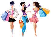 Fotografie drei Modemädchen
