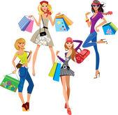 Mode-Shopping-Mädchen