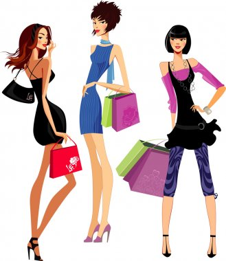 Fashion girls shopping