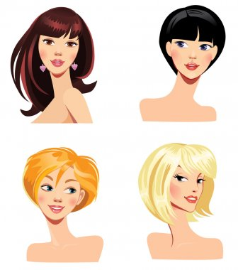 Women with hairstyles