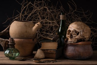 Still life black magic