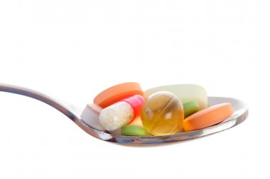 Various drugs vitamins and nutrition supplements