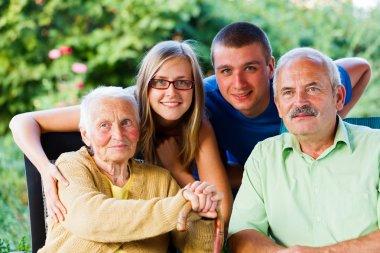 Son and Grandchildren Visiting Granny