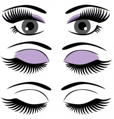 Vector eyes with long lashes stock vector