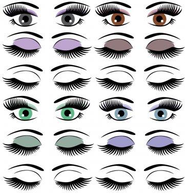 Vector set of eyes stock vector