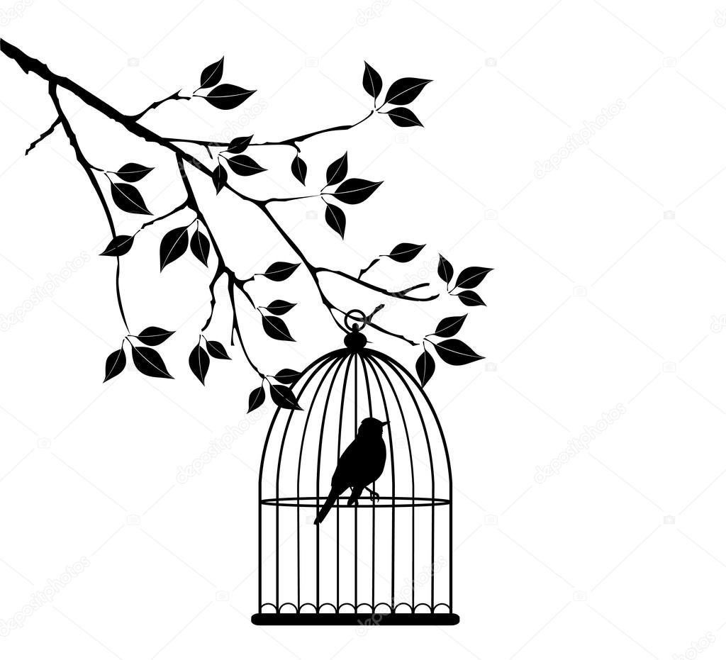 bird cage stock vector lilac design 42977027 Pigeon Cages Design vector bird cage in the tree vector by lilac design