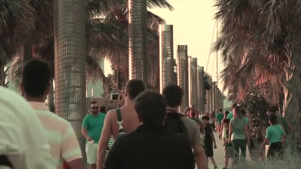 Tourists and vacationers along South Pointe Park Pier, Miami Beach