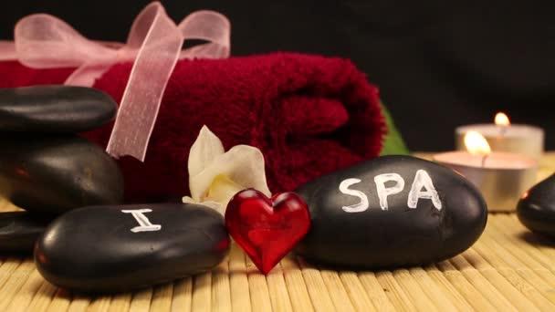 I love spa scene made of black spa therapy stones