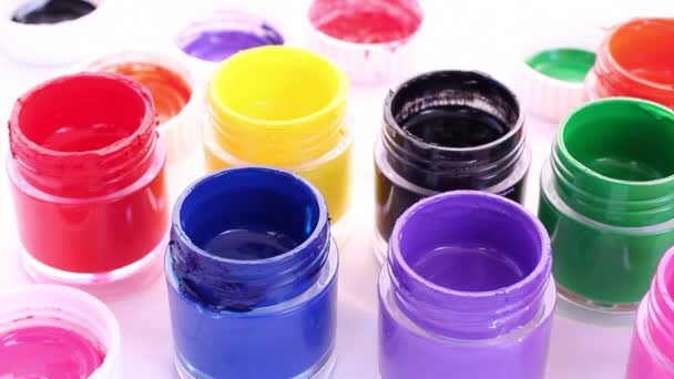 Jars with different colors, dolly