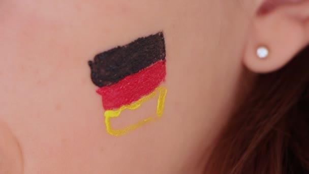 Yüz Boyama Alman Bayrağı Stok Video Jiovani 34025053