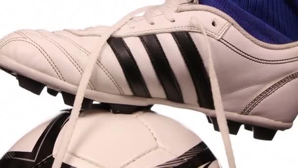 fotbal, fotbalové hráče botu a míč, zblízka