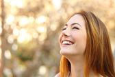 portrét ženy, směje se dokonalé zuby
