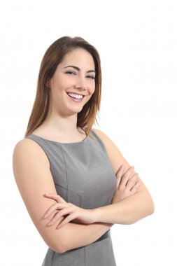 Confident business woman posing with a perfect smile
