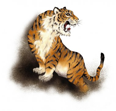 I painted a tiger in Nipponian technique