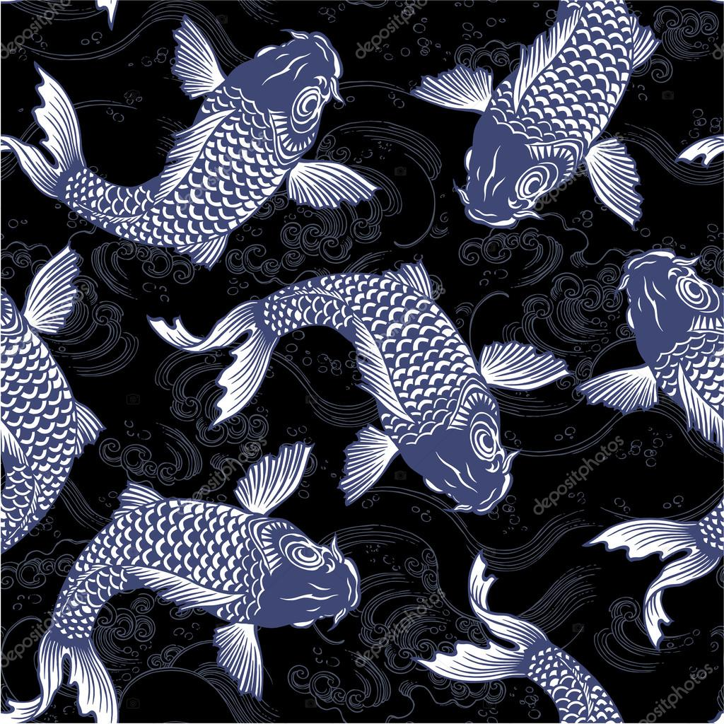 Japanese carp,  seamlessly