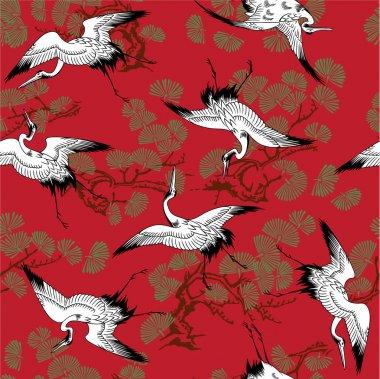 Japanese crane pattern