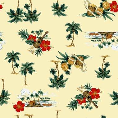 Hawaiian print,